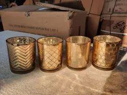 Modern Pattern Glass Candle Holder
