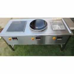 Pankti Stainless Steel Induction Service Counter, For Commercial