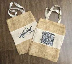 Loop Handle Printed Jute Carry Bag, Size/Dimension: 13 X 8 X 5 Inch, Capacity: 1 Kg