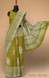Party Wear Ladies Fancy Printed Cotton Saree, 5.5 m