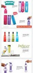 Liviya international Dispenser Pump Plastic Water Bottle, Capacity: 1 Litre, Size: Standard