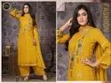 Exclusive Party Wear Yellow Palazzo Suit