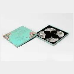 Captivating Folding Fan Shaped Silver Platter Set (Medium)