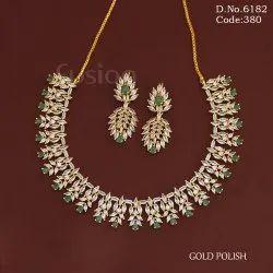 Golden Bridal Wedding Ad Necklace Set