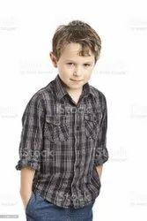 5 To 15 Cotton Small Boys Shirt, Size: 24.0