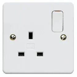 White Plastic Electric Socket, 220V