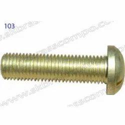 Round Shape Brass Screw Fastener, Size: M15