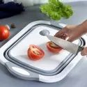 4 In 1 Multifunctional Silicon Based Kitchen Foldable Cutting Chopping Board
