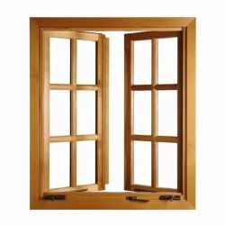Hinged Wooden Window Frame, Dimension/Size: 3x4 Feet