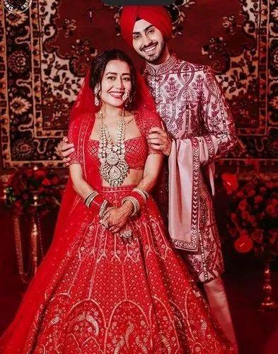 Latest Neha Kakkar Wear Red Wedding Lehenga Choli À¤¶ À¤¦ À¤• À¤²à¤¹ À¤— Brandz Fashion Id 22922732033