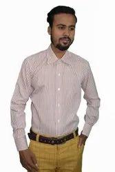 Pink Blend Mens Cotton Shirts, KMP267