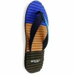 Plain 6 Daily Wear Fancy United Hills Mens EVA Slippers