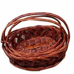 Brown Cane Fruit Basket, For Home