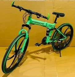Green Porsche Foldable Cycle