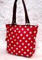 Ladies Polka Dots Printed Ikkat Bag