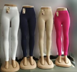 Churidar Plain Ladies Cotton Legging, Size: Free Size