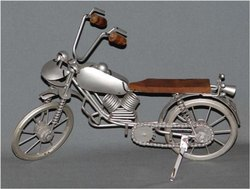 Metal And Wooden Decorative Handicrafts Motorcycle, For Decoration