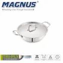 Magnus Triply Induction Kadai With SS Lid, 260mm, Silver, Steel - Aluminum - Steel, 3.4 litre