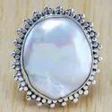 925 Sterling Silver New Fashion Jewelry Pearl Gemstone Ring Wr-6435