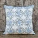 Rusted Green Floral Cushion Cover