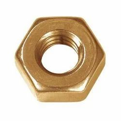 Brass Hex Nut, Plain, M12