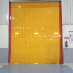 Yellow PVC Strip Door