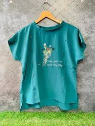 IMPORTED FABRIC Semi-Formal Western Top