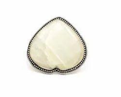 925 Silver Sterling Rainbow Moonstone Ring C