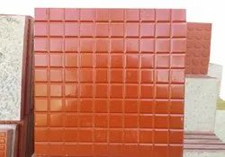 Red Gloss Square Kitchen Wall Tile, Thickness: 15-20 mm, Size: 12x12 Inch