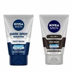 Nivea Men Face Wash, All-in-one, 10x 100ml And Nivea Men Face Wash, Dark Spot Reduction, 100g