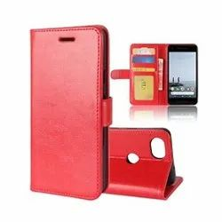 Red Artificial Leather Qawachh Flip Cover