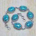 Turquoise Gemstone 925 Sterling Silver Jewelry Bracelet SJWBR-24
