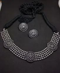 Alloy Pearls Necklace Set