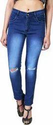 Denim Distress Women Jeans Pant