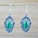 925 Sterling Silver Malachite Gemstone Handmade Earring WE-5275