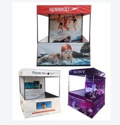 Aluminium Printed Outdoor Promotional Advertising Tent Kiosks, Thickness: 2-3 Mm, Size: 7 Feet (h)