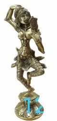 Silver 12 Ft Dancing Lady Brass Statue, For Decoration