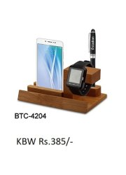Wooden Mobile And Pen Stand