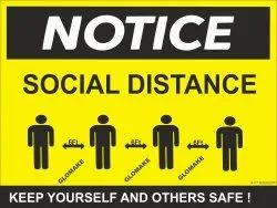 Covid 19 Social Distancing Sticker