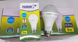 Foxsun Round 9W LED Rechargeable Bulb, 9 Watt