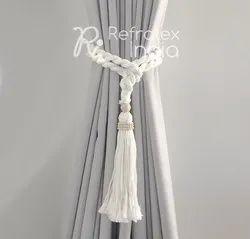Macrame Cotton Curtain Tie Back