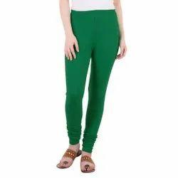 Straight Fit Plain women cotton leggings, Size: Free Size