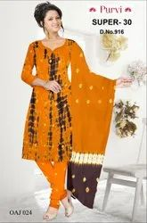 Printed Ladies Cotton Tie And Dye Suit