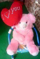 Fiber Pink,Red Pink Stuffed Soft Teddy Bear, 300 Grm