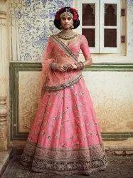 Multicolor Wedding Beautiful Art Silk Bridal Lehenga Choli