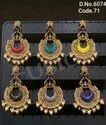Meenakari Peacock Chandbali Earrings