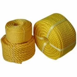 Yellow 24 mm PP Rope, For Rescue Operation, Thickness: 4 Mm