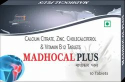 Madhocal Plus, Calcium Citrate, Zinc, Cholecalciferol, Packaging Type: Box, Packaging Size: 1 X 10 X 3
