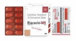 Aceclofenac 100mg Paracetamol 325mg Chlorzoxazone250mg Tab