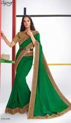 Green Border silk saree